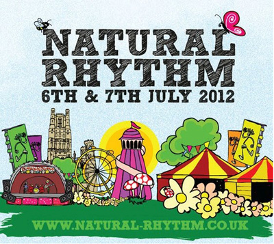 Image of the flyer for the Natural Rhythm Festival